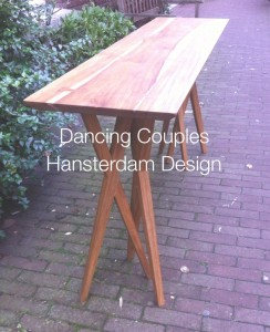 Dancing Couples made of reclaimed teak
